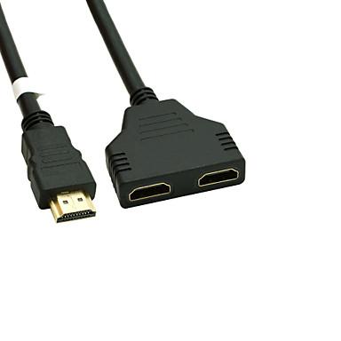 Недорогие HDMI кабели-позолоченный HDMI v 1.4 Мужской Двойной HDMI Женский адаптер кабель сплиттера