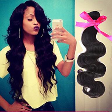billiga Hårförlängningar av äkta hår-Human Hår vävar Brasilianskt hår Kroppsvågor hår väver