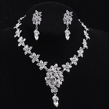 Flower style Women's Cubic Zirconia/Alloy/ Wedding/Party Jewelry Set With