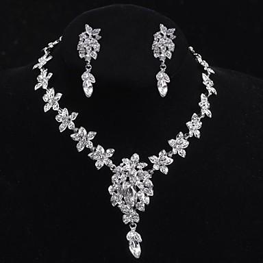 Takı Seti Kadın's Yıldönümü / Düğün / Nişan / Doğumgünü / Hediye / Günlük / Özel Anlar Mücevher Setleri alaşım Kristal / İmitasyon İnci