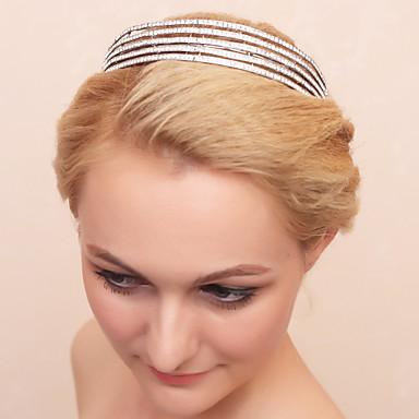 peça de tiaras de liga de strass elegante estilo feminino clássico