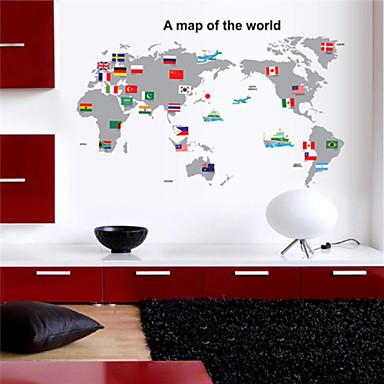 Stillleben Wand-Sticker Karte Wandaufkleber Dekorative Wand Sticker, Vinyl Haus Dekoration Wandtattoo Wand