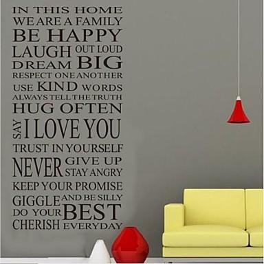 Слова и фразы Наклейки Простые наклейки Декоративные наклейки на стены материал Съемная Украшение дома Наклейка на стену