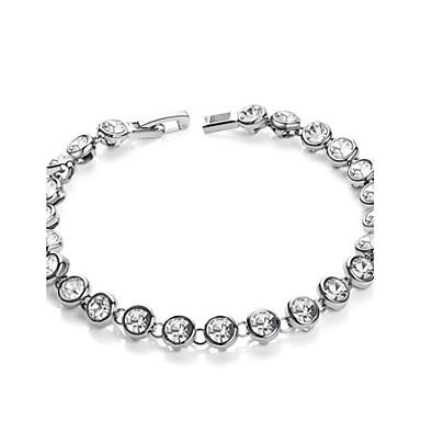 Kadın Tenis Bilezikler Kristal Kristal alaşım Eşsiz Tasarım Moda minimalist tarzı Mücevher Mücevher 1pc