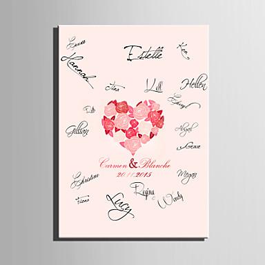 e-home® εξατομικευμένες καμβά υπογραφή πλαισίου-Rose Αγάπη κοράλλι γάμο