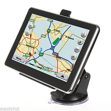 Yeni 7 inç oto araba kamyon gps navigasyon 4GB haritası navi (Amerika haritası içinde) 6.0 fm mp3 mp4 çekinme oturdu