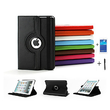 Case For iPad Mini 3/2/1 with Stand Auto Sleep / Wake Origami 360° Rotation Full Body Cases Solid Color PU Leather for iPad Mini 3/2/1