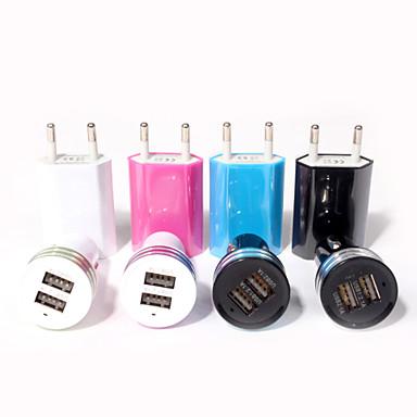 Универсальный ЕС Подключите USB Power домой стены зарядное устройство адаптер для Iphone ставку 6 / 5S и другие (разные цвета)