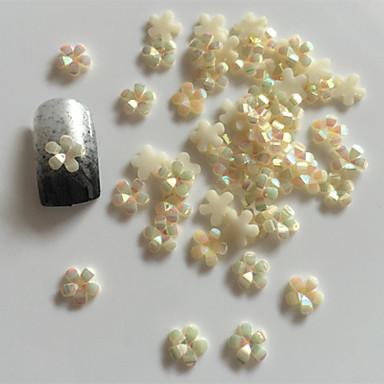 Цветы/Свадьба - Стразы для ногтей - 10 - 7X5X0.1 - Акрил - Пальцы рук