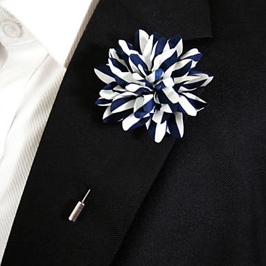 Dame Nåler - Blomst Stilfull Brosje Blå og Gul Til Hverdag