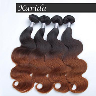 4 wiązki fal 12-26 cale ciało peruwiański ombre hair tka