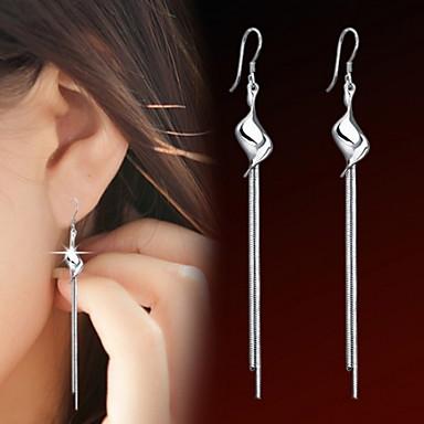 női eltúlzott hátsó ezüst fülbevaló elegáns stílusban