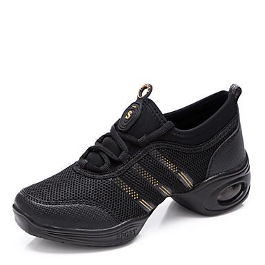 Női Tánccipők / Gyakorlócipők Szintetikus Sportcipő Fűző Alacsony Szabványos méret Dance Shoes Fekete és vörös / Fekete-arany / Fehér
