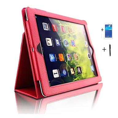 Case Kompatibilitás iPad 4/3/2 iPad Air 2 iPad Air Állvánnyal Automatikus készenlét / ébresztés Héjtok Tömör szín PU bőr mert iPad 4/3/2