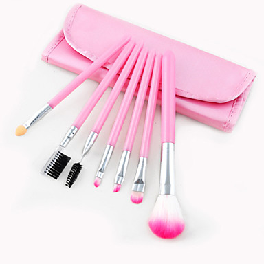 7 Makeup Brush Set Synthetic Hair Travel Eye 1 * Fan Brush 1 * Sponge Applicator 1 * Eyebrow and Eyelash Brush 1 * Powder Brush 1 *