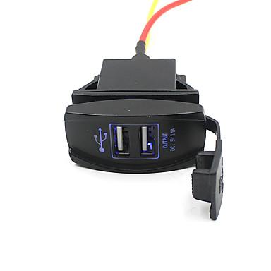 Ładowarka samochodowa lossmann 5v 3.1a Namiot wodoodporny i pyłoszczelna Podwójne porty USB
