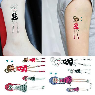 Tatuointitarrat Muut - Paperi - Non Toxic/Kuvio/Alaselkä/Waterproof 6*5 - Monivärinen - 3 - Lapsi/Naisten/Girl/Miesten/Aikuinen/Boy/Teini