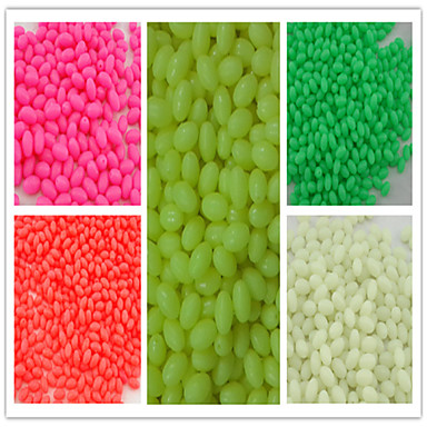 1000pcs/ 5*8mmFishing Plastic Hard Beads include Luminous Oval Beads Fishing Terminal Tackle Lures