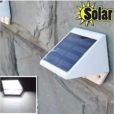 4leds λευκό χρώμα φως solarwalllight ηλιακά φώτα