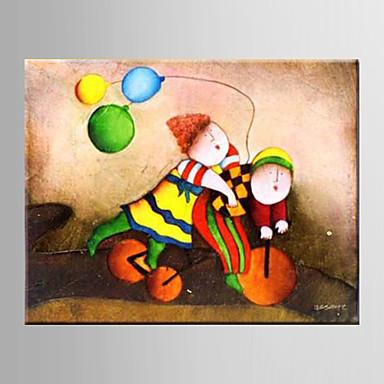 Ручная роспись МультипликацияModern 1 панель Холст Hang-роспись маслом For Украшение дома