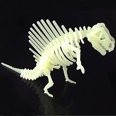 Jigsaw Puzzles 3D Puzzles Building Blocks DIY Toys Dinosaur ABS Ivory Model & Building Toy