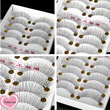 Augenwimpern Falsche Wimpern 20 pcs Voluminisierung Extra lang Alltag Bilden Alltag Make-up Klassisch Kosmetikum Pflegezubehör