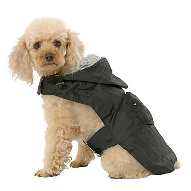Chien Imperméable Vêtements pour Chien Etanche Couleur Pleine Noir Rouge Bleu Costume Pour les animaux domestiques