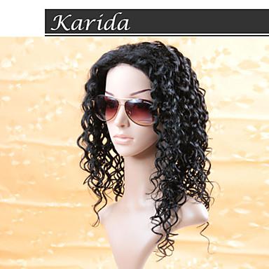 Siyah kadınlar için 14-26 inç Brezilyalı derin dalga u parçası peruk