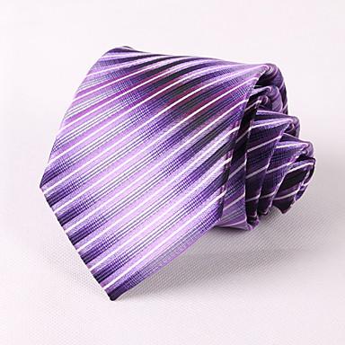 miesten puolue / ilta häät muodollinen purppura kaltevuus raidallinen solmio