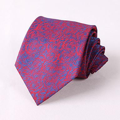 fête des hommes / soirée de mariage formel roses bleues motif polyester marié cravate