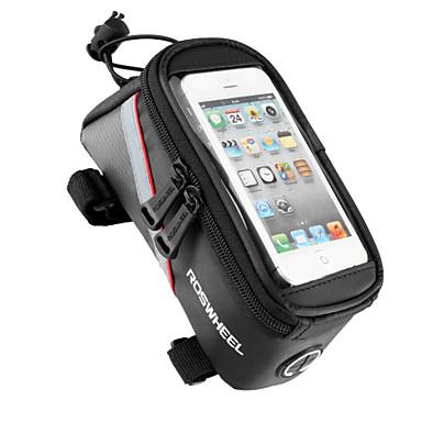 ROSWHEEL Τσάντα ποδηλάτου 1.8LΤσάντα για σκελετό ποδηλάτου Κινητό τηλέφωνο τσάντα Πολυλειτουργικό Οθόνη Αφής Τσάντα ποδηλάτουPVC 600D