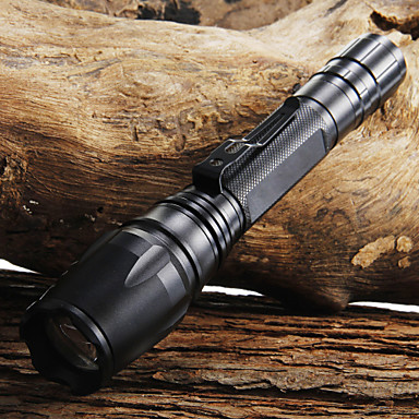 2000lm Cree xml t6 førte zoomable lommelygte