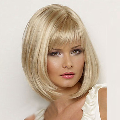 Damen Synthetische Perücken Gerade Blondine Kostümperücke