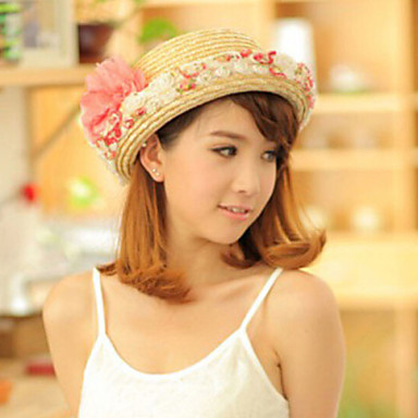 Basketwork Crystal Fabric Tiaras Hats 1 Wedding Special Occasion Party / Evening Casual Outdoor Headpiece