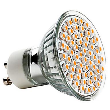 3 W 250-350 lm GU10 LED Σποτάκια MR16 60 LED χάντρες SMD 3528 Θερμό Λευκό 220-240 V / CE