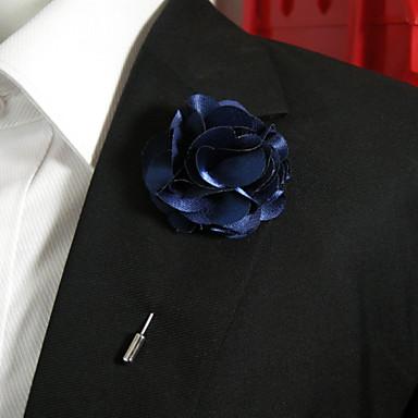 Dame Nåler - Blomst Stilfull Brosje Dyp Blå Til Hverdag
