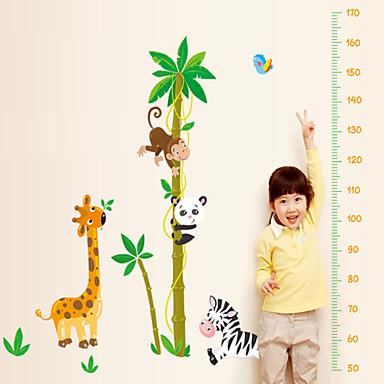 Dyr Tegneserie Botanisk Veggklistremerker Animal Wall Stickers Højde klistermærker, Vinyl Hjem Dekor Veggoverføringsbilde Vegg