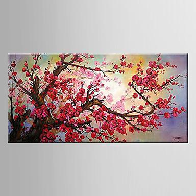 El-Boyalı Natürmort Çiçek/Botanik Modern Tek Panelli Hang-Boyalı Yağlıboya Resim For Ev dekorasyonu