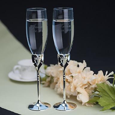 billige Sjampagneglass-Blyfritt Glass Riste Fløyter Gaveeske Klassisk Tema Alle årstider