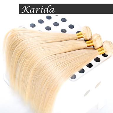 3 PSC / lot européen couleur des cheveux de cheveux brésiliens blonds 27 #, # 613, cheveux Karida non transformés extensions de cheveux