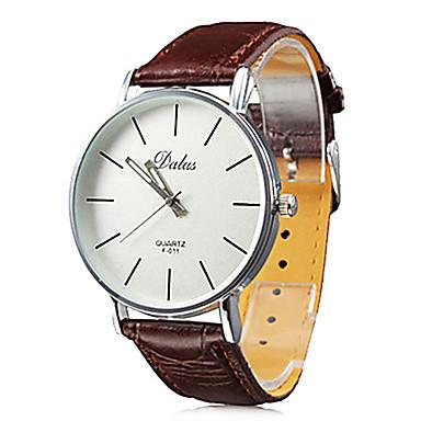 Bărbați Ceas de Mână Japoneză Ceas Casual PU Bandă Casual / minimalist Negru / Alb / Roșu