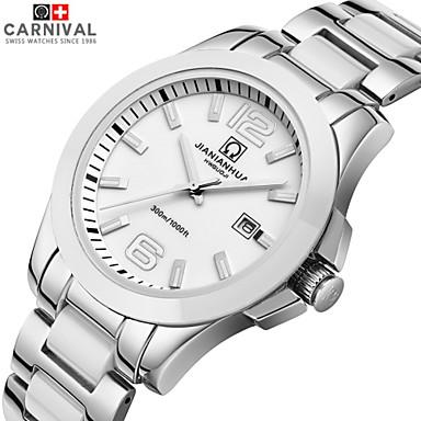3d758d7e245 jianianhua hodinky Comcast obchodní série vodotěsná světelná křemen keramika  z nerezové oceli pánské hodinky mouka