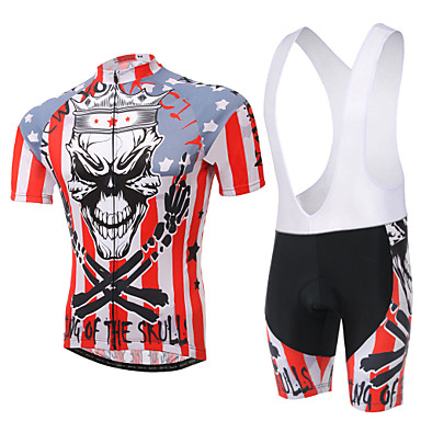 Cycling Jersey with Bib Shorts Men's Unisex Short Sleeves Bike Clothing Suits Quick Dry Ultraviolet Resistant Breathable Compression
