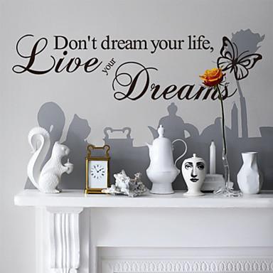 Слова и фразы Наклейки Стикеры стикеров Words & Quotes Декоративные наклейки на стены, Винил Украшение дома Наклейка на стену Стена