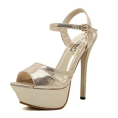 Kadın Ayakkabı Yapay Deri Bahar Yaz Sonbahar Stiletto Topuk Uyumluluk Gümüş Altın