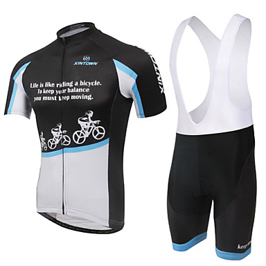 Women's Short Sleeves Cycling Jersey with Bib Shorts Bike Shorts Bib Shorts Jersey, Breathable, 3D Pad