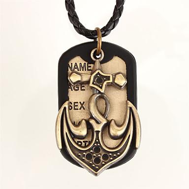 Colliers Tendance Pendentif de collier Bijoux Quotidien Sports Cuir Silicone Cuivre Hommes 1pc Cadeau Noir