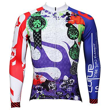 ILPALADINO Φανέλα ποδηλασίας Ανδρικά Μακρύ Μανίκι Ποδήλατο Αθλητική μπλούζα ΜπολύζεςΓρήγορο Στέγνωμα Υπεριώδης Αντίσταση Αναπνέει Ελαφριά