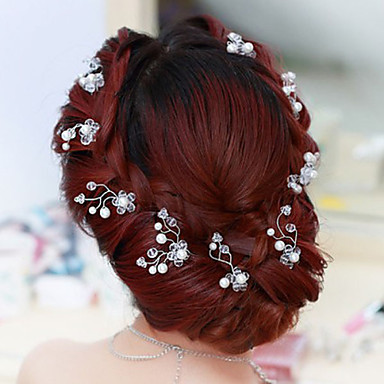 Flower Shape Pearl Hair Clip Bride Hair Wedding Headdress Wedding Accessories One Piece