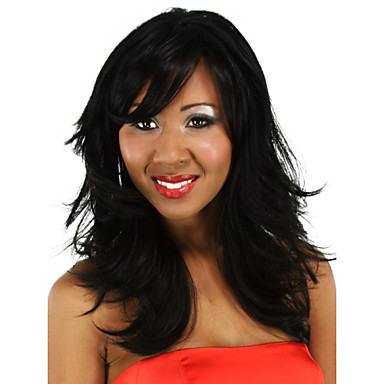 Black Long Curly Wig for Women